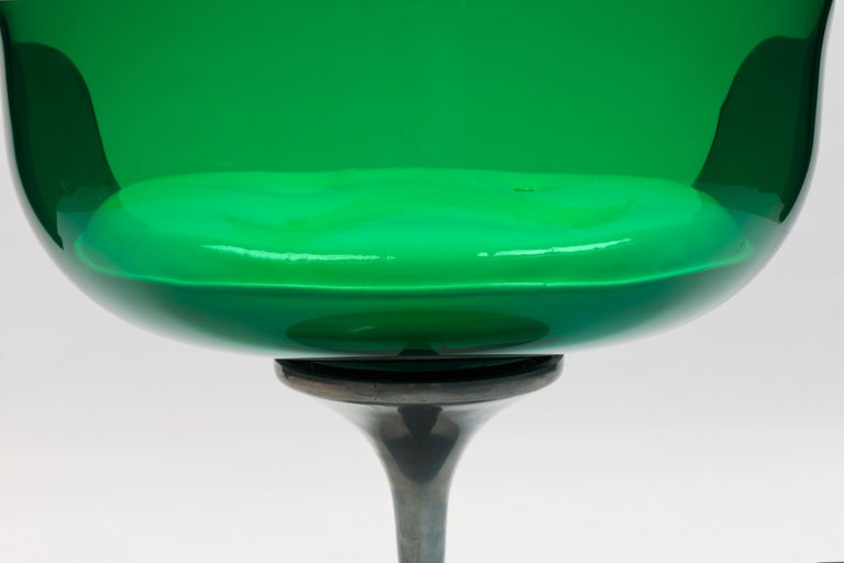Rare Green Edition 'Champagne' Chair by Estelle & Erwin Laverne For Sale 7