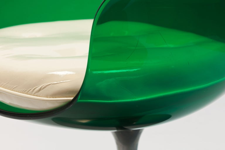 Rare Green Edition 'Champagne' Chair by Estelle & Erwin Laverne For Sale 8