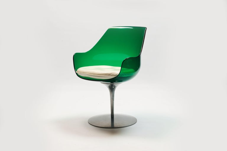 Rare Green Edition 'Champagne' Chair by Estelle & Erwin Laverne For Sale 11