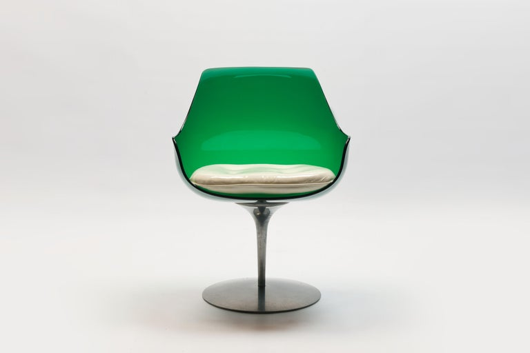 Mid-Century Modern Rare Green Edition 'Champagne' Chair by Estelle & Erwin Laverne For Sale
