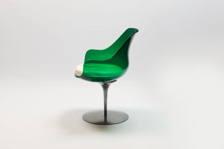 Rare Green Edition 'Champagne' Chair by Estelle & Erwin Laverne In Good Condition For Sale In Utrecht, NL