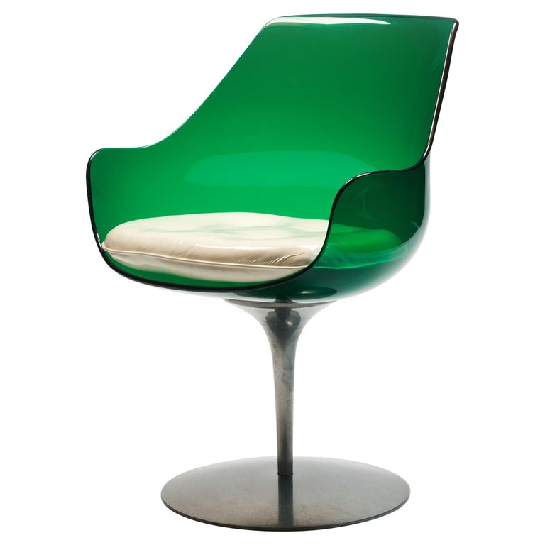 Rare Green Edition 'Champagne' Chair by Estelle & Erwin Laverne For Sale