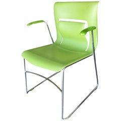 "Rare Green Stylex ""Rhythm"" Armchair by Sava Cvek, Set of 5"