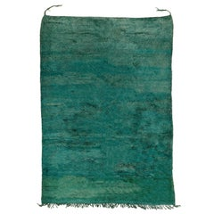 Rare Green Vintage Moroccan Berber Beni Mguild Rug