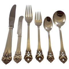 Rare Greta by Orla Vagn Mogensen Danish Sterling Silver Handwrought Flatware Set