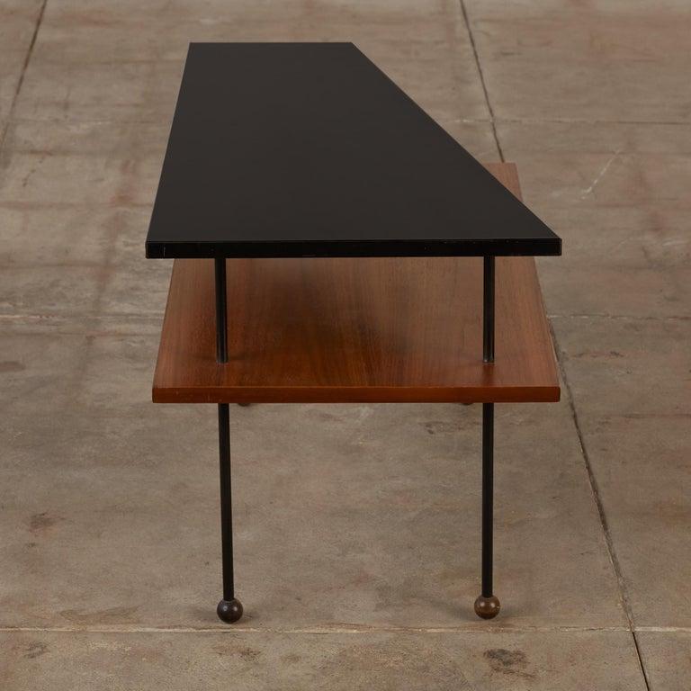 Metal Rare Greta Grossman Side Table for Glenn of California For Sale