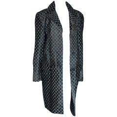 Rare Gucci by Tom Ford 1997 Black GG Monogram Logo Fur Coat