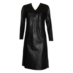 Rare Gucci by Tom Ford SS 2000 Crinkled Black Leather Dress Gown
