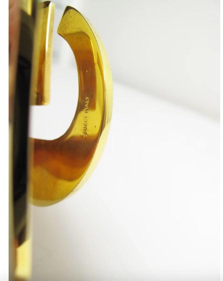 Yellow Rare Gucci Enamel and Brass Desk Clip, 1970s