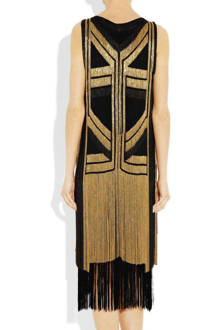 Rare Gucci Fringed chain-embellished silk dress as seen on Taylor Swift For Sale 6