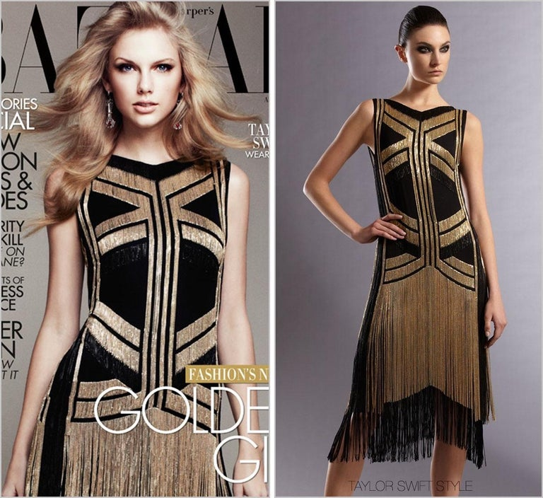 Rare Gucci Fringed chain-embellished silk dress as seen on Taylor Swift For Sale 3
