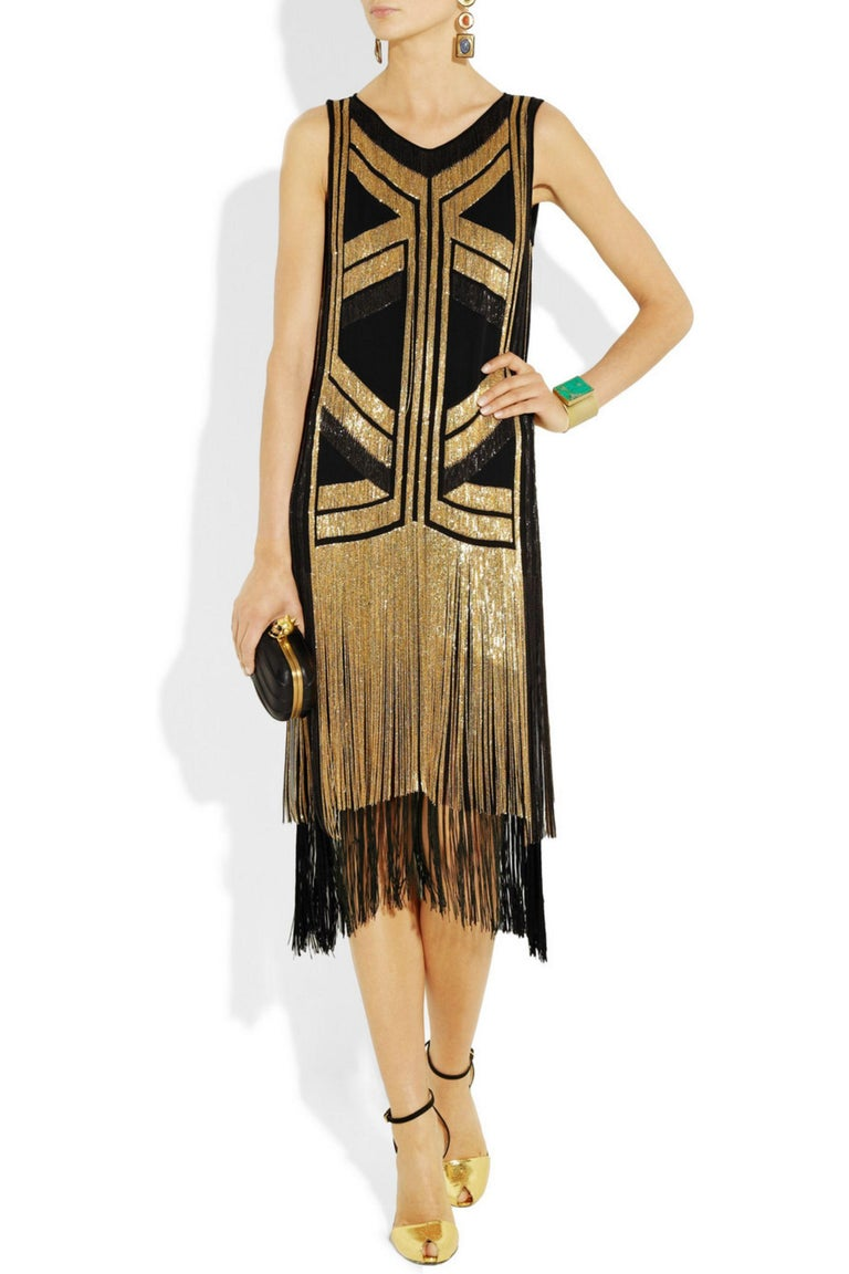 Rare Gucci Fringed chain-embellished silk dress as seen on Taylor Swift For Sale 4