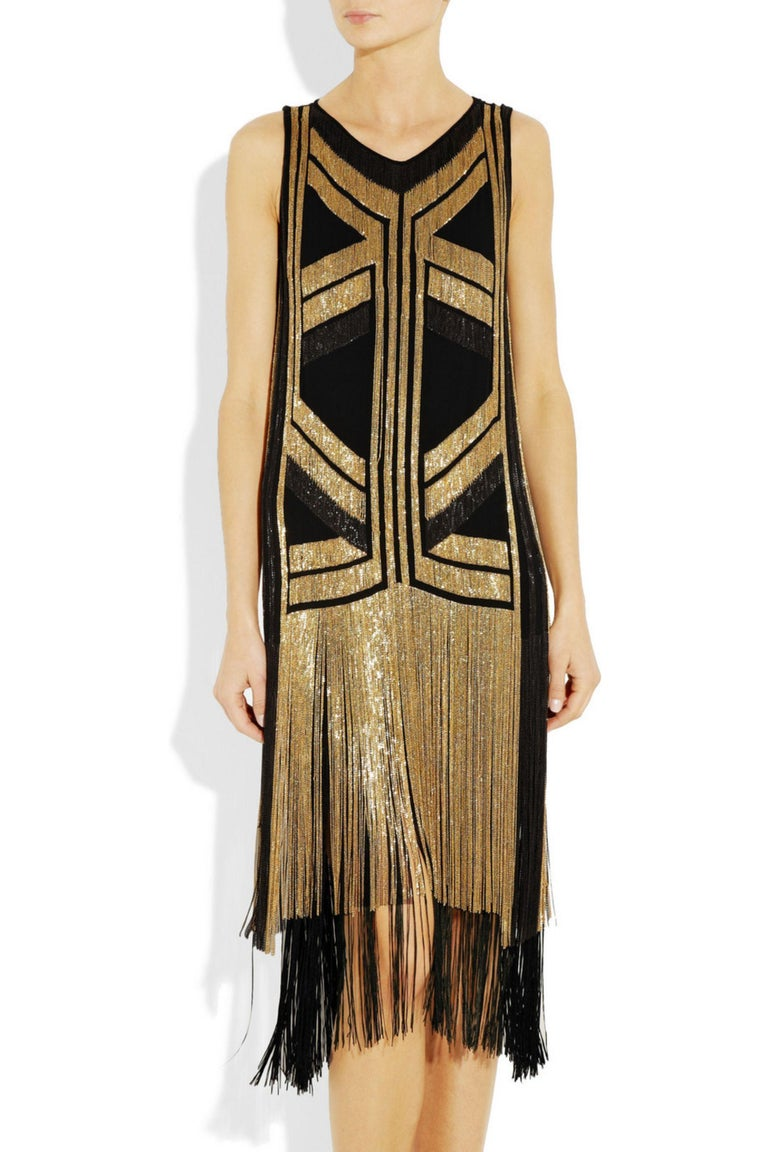 Rare Gucci Fringed chain-embellished silk dress as seen on Taylor Swift For Sale 5