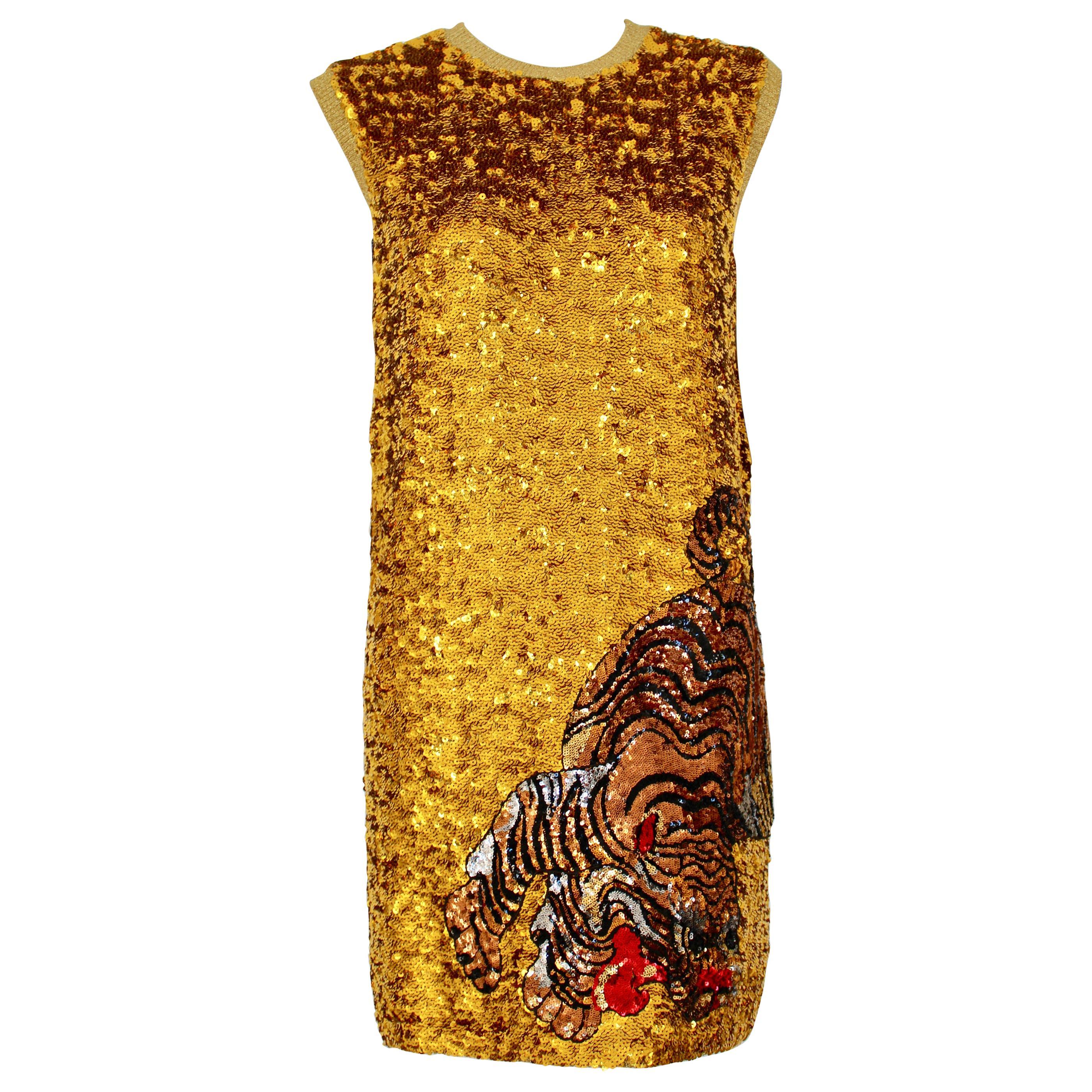 RARE Gucci Gold Sequin dress