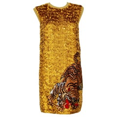 RARE Gucci Gold Sequin dress
