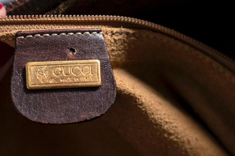 Black Rare Gucci Italian Travel Bag 1960's