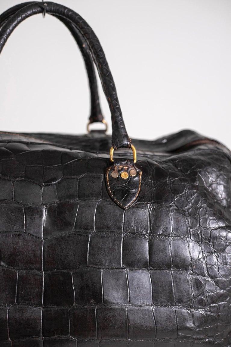 Rare Gucci Italian Travel Bag 1960's 2