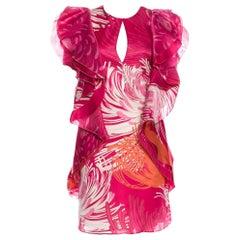 Rare Gucci Runway Ad Silk Dress S/S 2013 Sz 40 $3499
