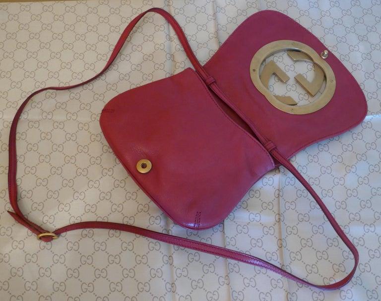 Rare Gucci Soho Pink Leather Messenger Shoulder Bag Purse   For Sale 6