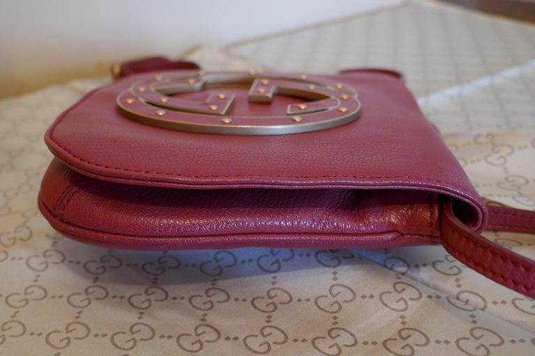 Rare Gucci Soho Pink Leather Messenger Shoulder Bag Purse   For Sale 7