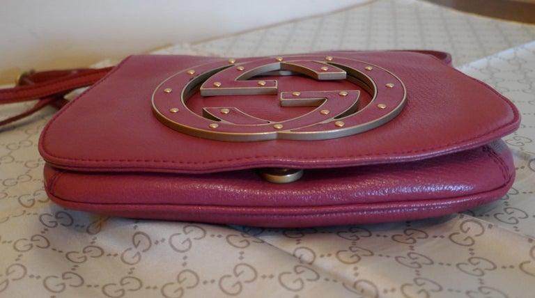 Rare Gucci Soho Pink Leather Messenger Shoulder Bag Purse   For Sale 8