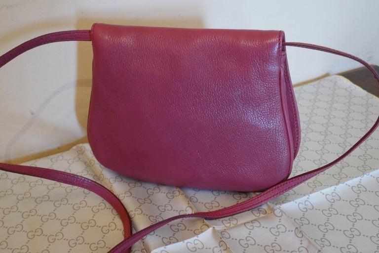 Rare Gucci Soho Pink Leather Messenger Shoulder Bag Purse   For Sale 10