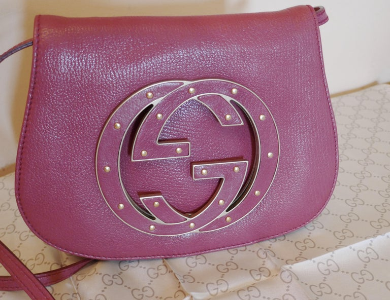Rare Gucci Soho Pink Leather Messenger Shoulder Bag Purse   For Sale 11