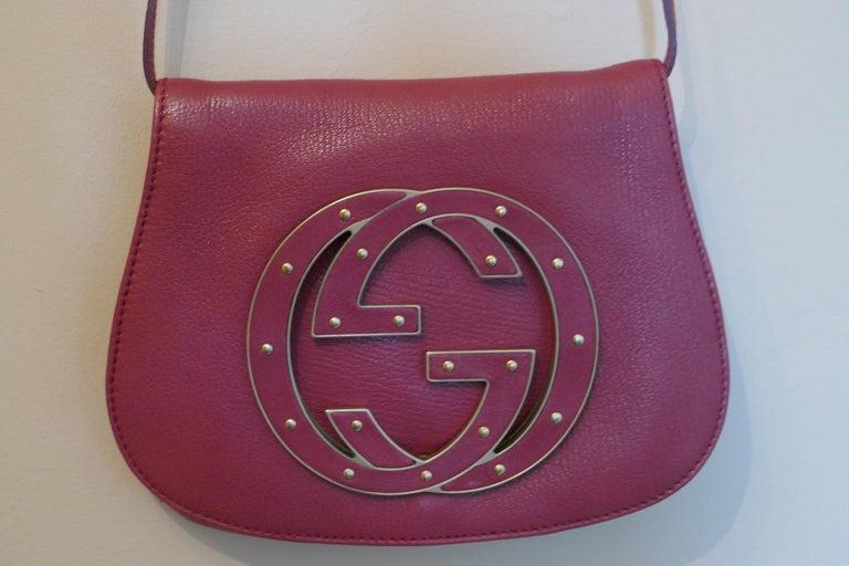 Rare Gucci Soho Pink Leather Messenger Shoulder Bag Purse   For Sale 13