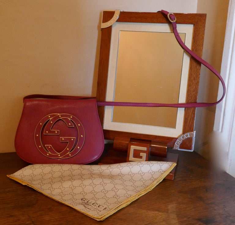 Rare Gucci Soho Pink Leather Messenger Shoulder Bag Purse   For Sale 14