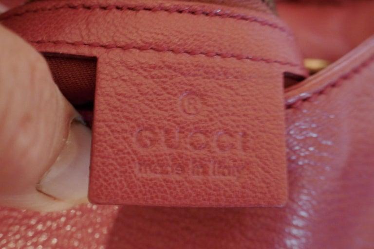 Rare Gucci Soho Pink Leather Messenger Shoulder Bag Purse   For Sale 1