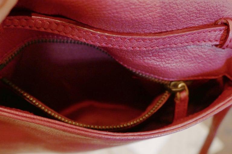 Rare Gucci Soho Pink Leather Messenger Shoulder Bag Purse   For Sale 2