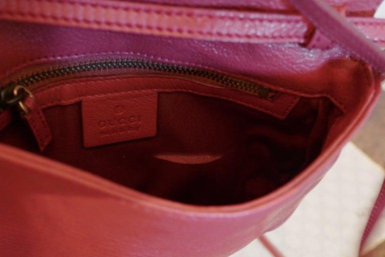 Rare Gucci Soho Pink Leather Messenger Shoulder Bag Purse   For Sale 3