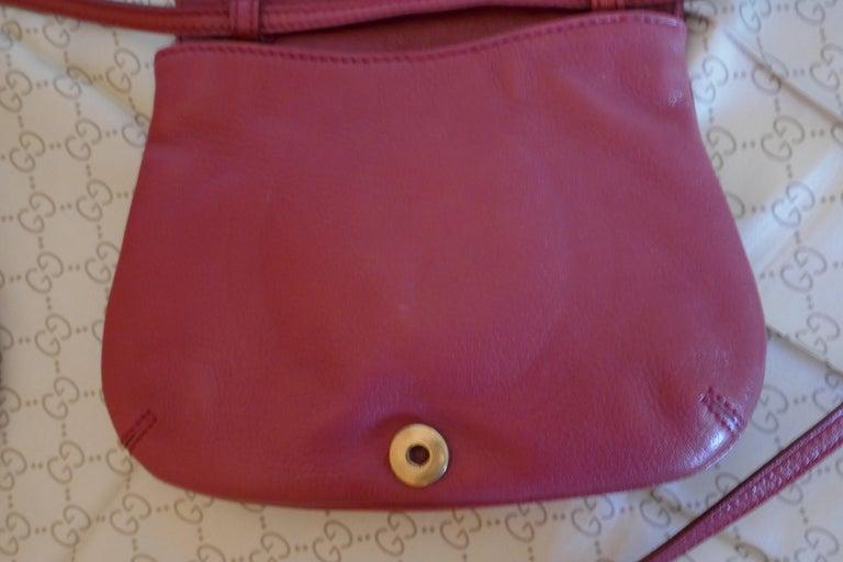 Rare Gucci Soho Pink Leather Messenger Shoulder Bag Purse   For Sale 5