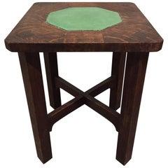 Rare Gustav Stickley Grueby Tile-Top Table