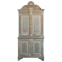 Rare Gustavian 19th Century Swedish Cabinet