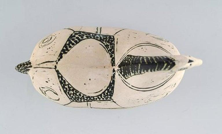 Rare Gustavsberg Studio Hand, Horse by Stig Lindberg, Swedish Ceramist In Excellent Condition For Sale In Copenhagen, Denmark