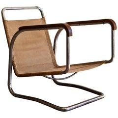 Rare H-91 Lounge Chair by Jindrich Halabala