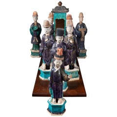 Rare, Han-Dynasty, Terracotta Figural Procession