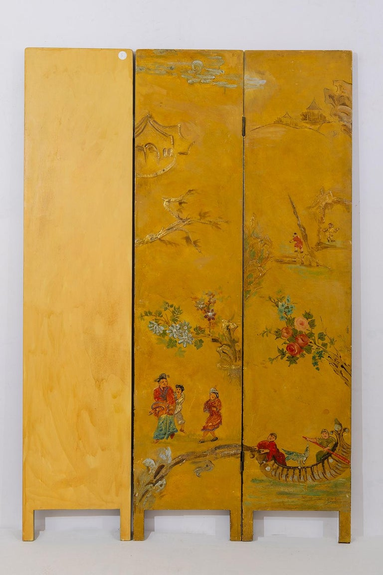 Rare Hand Painted Screen For Sale 3