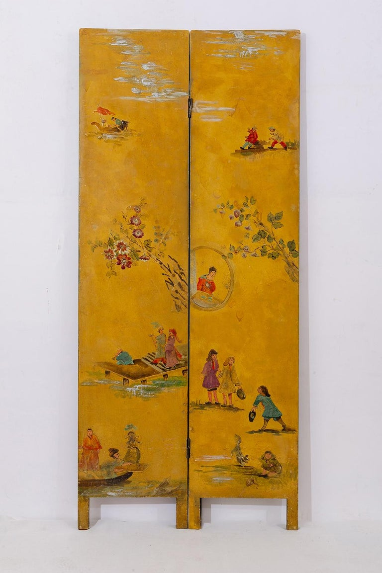 Rare Hand Painted Screen For Sale 1