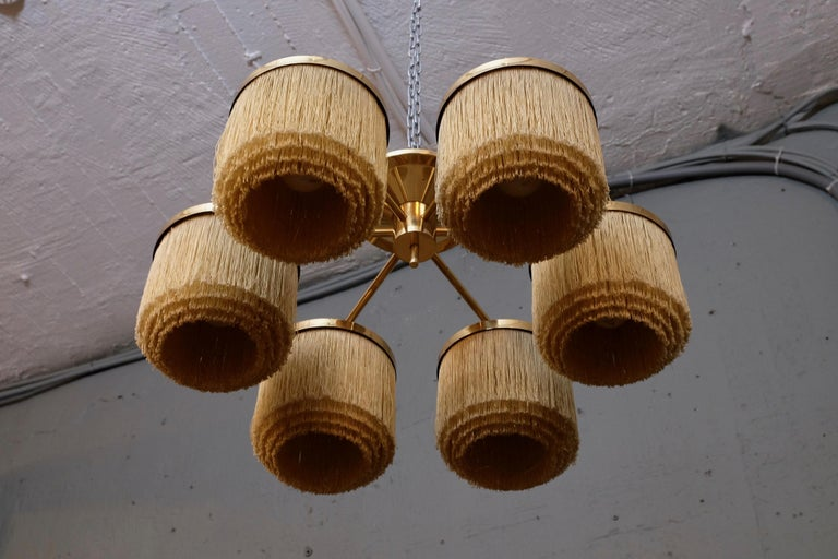 Rare Hans-Agne Jakobsson Ceiling Lamp Model T-606, 1960s In Good Condition For Sale In Stockholm, SE