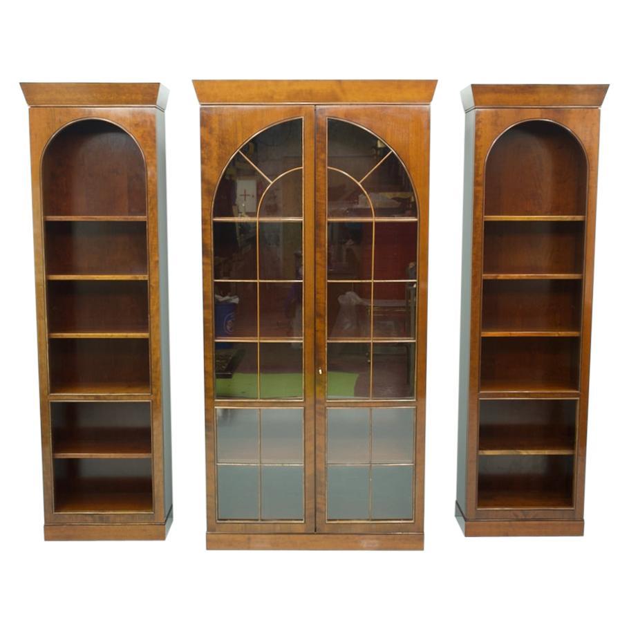 Rare Hans Hopfer Display-Bookcase Cabinet Cherrywood WK, Germany