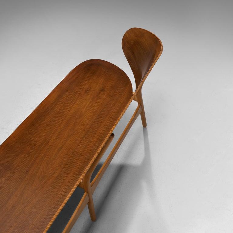 Scandinavian Modern Rare Hans J. Wegner Bench FH 1935/4 in Walnut For Sale