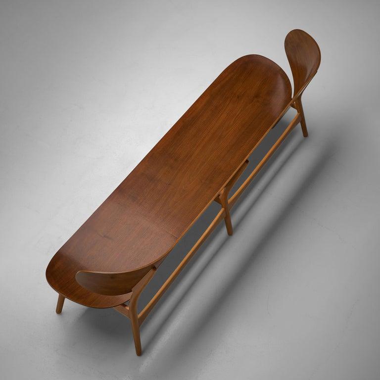 Rare Hans J. Wegner Bench FH 1935/4 in Walnut For Sale 2