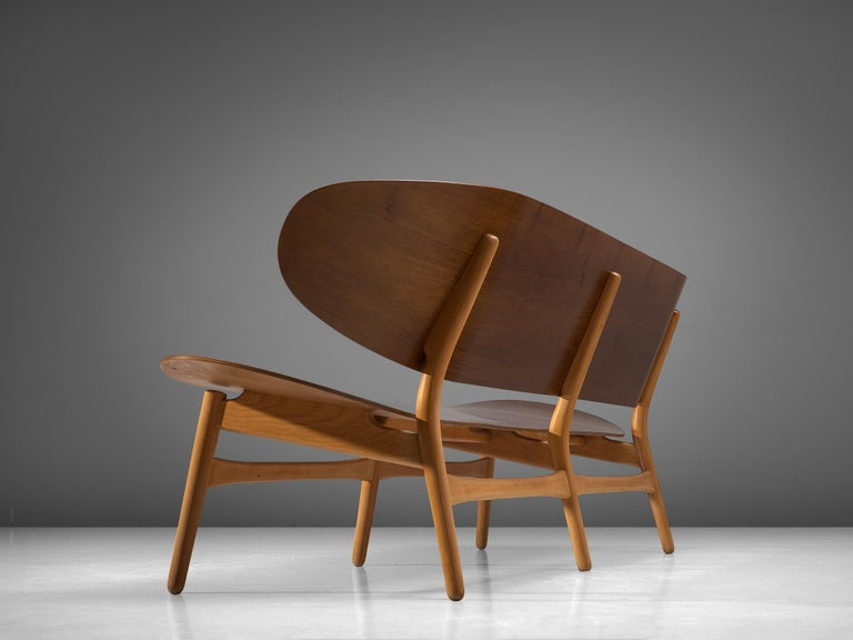 Mid-20th Century Rare Hans J. Wegner Lounge Set with Rare Four-Seat Bench For Sale