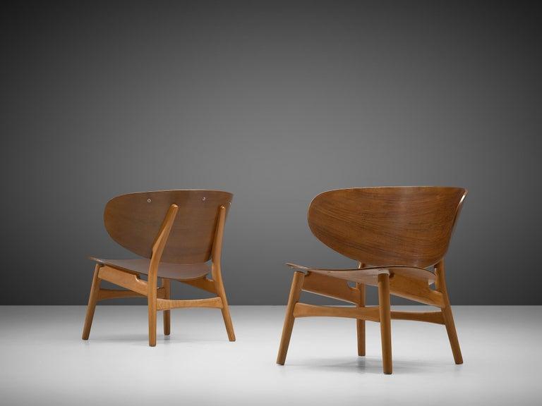 Beech Rare Hans J. Wegner Lounge Set with Rare Four-Seat Bench For Sale