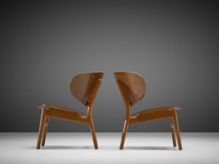 Rare Hans J. Wegner Lounge Set with Rare Four-Seat Bench For Sale 1