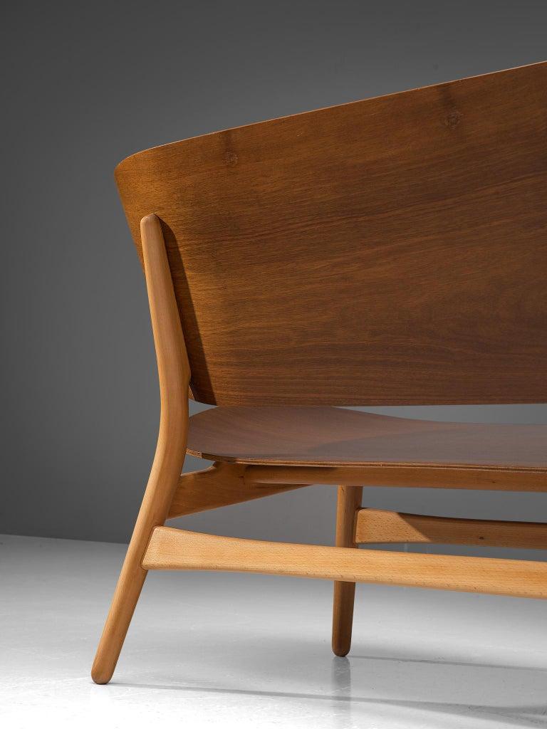 Rare Hans J. Wegner Lounge Set with Rare Four-Seat Bench For Sale 2