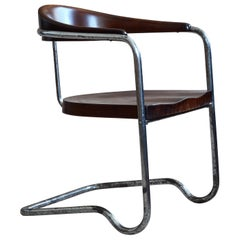 Rare Hans & Wassili Luckhardt Cantilever Cabinet Chair, Bauhaus, 1930s