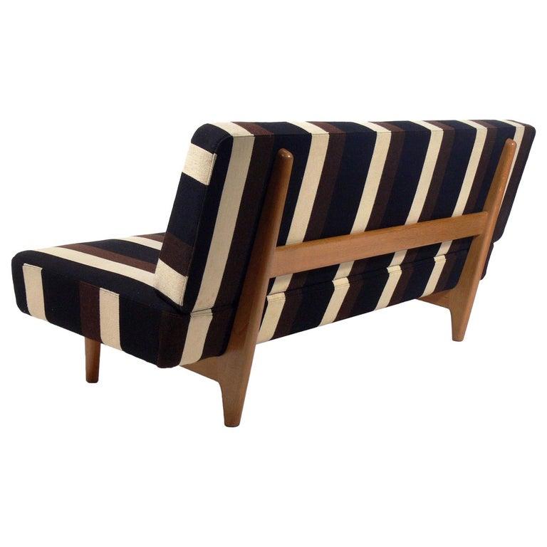 Seltener Hans Wegner Sofa Mit Original Stoffbezug 1